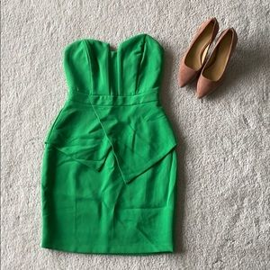 Adeptness Rae Green Strapless Cocktail Dress Sz XS